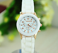 Women's European Style Fashion Cute Beautiful Silicone Watch Cool Watches Unique Watches