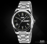 Men's Watches Genuine  SKMEI Exquisite Commercial Steel Tape Waterproof Calendar Quartz Watch