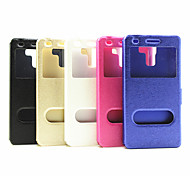 Flip Case Window Japan And South Korea Fashion  Pu Mobile Phone Shell for Huawei Honor 7Assorted Colors