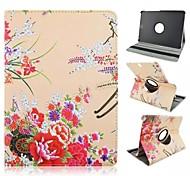 Pflaumenblüte Muster 360-Grad-Umdrehung PU-Leder Ganzkörper-Fall mit Standplatz für Samsung Galaxy Tab 8.0 s2 T715