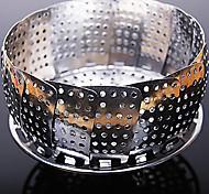 steamer bandeja dobrável suporte do prato de fruta escalável aço inoxidável, w24cm x l24cm x h10.5cm