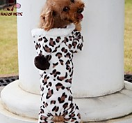 FUN OF PETS® Leopard Print Pattern Jumpsuit With Hoodie for Pet Dogs(Assorted Sizes)