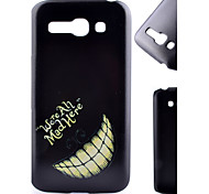 Tooth Pattern Black Matte PC Material Phone Case for Alcatel C9/C7/C5