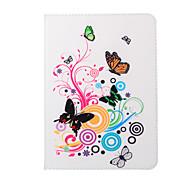 Schmetterlinge spielen Blume PU-Lederholster um offen mit Pattsituation für Galaxy Tab s2 Tab 8.0 / 9.7-Galaxie s2