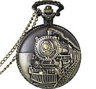 Fashion Locomotive Shape Vintage Alloy Quartz Analog Pocket Watch With Chains  (1 x LR626)