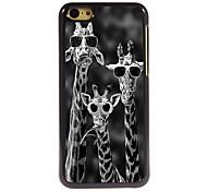 conception fraîche de l'aluminium de girafe cas de haute qualité pour iPhone 5c