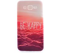 Red Cloud Pattern Thin TPU Material Phone Case for Samsung Galaxy J7/ J5/ J1
