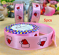 5pcs Silk Tape Christmas Hat on Christmas