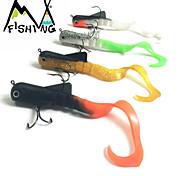 M&X Señuelos blandos/Paquete de cebos 22 g 4 pcs 165mm Pesca de baitcasting/Pesca de agua dulce/Pesca de Cebo