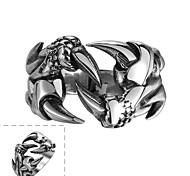 Classical Individual No Decorative Stone Men's Claws Stainless Steel  Ring(Black)(1Pc) Jewelry