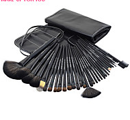 Make-up For You® 32pcs Pony Hair Makeup Brushes set Professional/Limit bacteria Black Foundation/Powde/Blush brush Shadow/brow/lash/eyeliner/lip brush