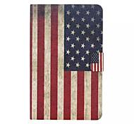motif de drapeau américain en cuir PU cas de tout le corps avec la fente de support pour galaxy tab 9.6 e T560