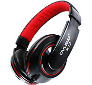 Ovleng X13 Fashion 3.5mm Audio Jack Stereo Headphone w/ Mic for Smart Phone / iPod / Computer - Black + Red