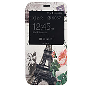 Tower Pattern PU Material Full Package Phone Case for Samsung Galaxy A8