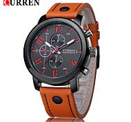 CURREN® Men's Fashion Dress Watch Japanese Quartz Leather Strap