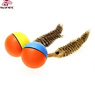Cat / Dog Pet Toys Ball / Feather Toy Electronic Red / Blue / Brown / Yellow Plastic
