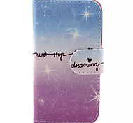Glitter Pattern PU Leather Phone Case for Samsung Galaxy J1