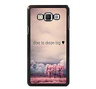 ousar sonhar grande projeto de alumínio de alta qualidade caso para Samsung Galaxy a3 / A5 / a7 / a8