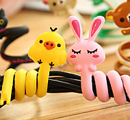 Headset Cute Headphone Earphone Cable Cartoon Long Wrap Winder Organizer (Random Color)