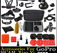 Gopro Accessories Set With L Size Case Monopod Floating Chest Head Strap For Xiaomi SJCAM Sj4000 Hero 4