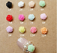 12 kinds of color  Mixed  camellia Nail diy accessories