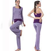 Corrida Calças / Conjuntos de Roupas/Ternos Mulheres Manga Comprida Respirável Modal Ioga / Pilates / Fitness HaiYunLai Wear Sports