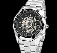 Luminous Clock Men Automatic Watch Skeleton Military Watch Mechanical