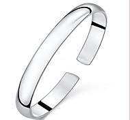 Woman Simple Opening Adjustable Pure Silver Bracelet