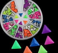 Mixed-color Beautiful Diy Triangle Fluorescent Rivet Nail Jewelry Nail Art Decorations