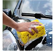 mini automobile lavaggio blocco pulizia spugna gialla