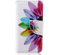Sonnenblumenmuster PU-lederne Mappe Design Ganzkörper-Fall mit Ständer für den iPod touch 5/6