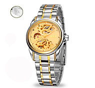 Personalized Gift Men's Analog Watch with Steel Band Mechanical Watch
