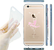 MAYCARI®Ballet Dancer Transparent TPU Back Case for iPhone 6/iphone 6S