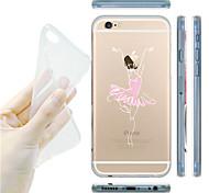 maycari®ballet Tänzerin transparente TPU Tasche für iPhone 6 / iphone 6s