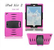 antichoc robuste armure hybride mince couverture de cas pc + Housse en silicone pour iPad 2 d'air (de couleur assortie)