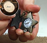 estrela liga personalizado dom relógio em forma gravado fivela chave