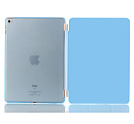 Natusun™ Slim Smart Three Fold The Soft PU Leather Cover Hard Translucent Plastic Shell for iPad Air 2
