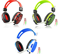 A6 HIFI Gaming Wired Headphones  with In line Mic & Volume Control Glare Ear Noise Cancelling Bass Surround Earphones