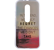 Sea Surface Cool words Pattern PC Hard Back Cover Case for Motorola MOTO G3 3rd Gen