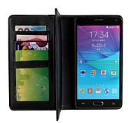 Para Samsung Galaxy Note Cartera / con Soporte Funda Cuerpo Entero Funda Un Color Cuero Sintético Samsung Note 4