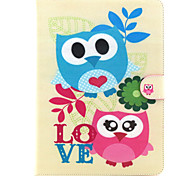 Two Owls Pattern PU Leather Wallet Soft TPU Case Cover For Samsung Galaxy Tab 4 10.1/ Tab 3 Lite/Tab 4 7.0/Tab A 8.0