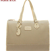 Kate & Co.® Women PVC Tote Brown / Multi-color / Khaki - KF-04460