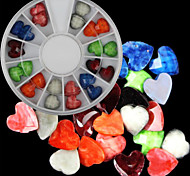 6cm Mixed-color Beautiful Heart Love Nail Jewelry Nail Art Decorations