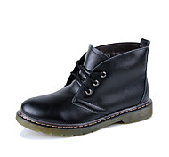 Men's Shoes Outdoor / Athletic / Casual Leather Boots Black / Brown / Burgundy