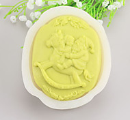 Santa Claus Shaped  Soap Molds Mooncake Mould Fondant Cake Chocolate Silicone Mold, Decoration Tools Bakeware