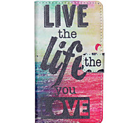 Live the Life you Love Pattern PU Leather Wallet Full Body Case with Card Slot And Stands for Motorola MOTO G3 3rd Gen