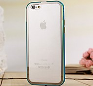 Protective Metal Bumper Frame with Transparent Back Cover for iPhone 6/6s (Assorted Colors)