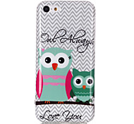 Bird Owl Pattern TPU Soft Case for iPhone 5C