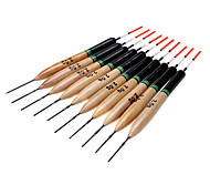 10Pcs 2g Fishing Floats Bobbers Paulownia Wood Fishing Tackle Tools
