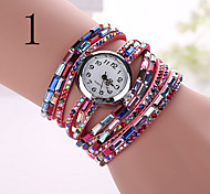 Ladies's Watch The New Diamond Ladies Round Bracelet Watch Colorful Woman Three Ring Watch